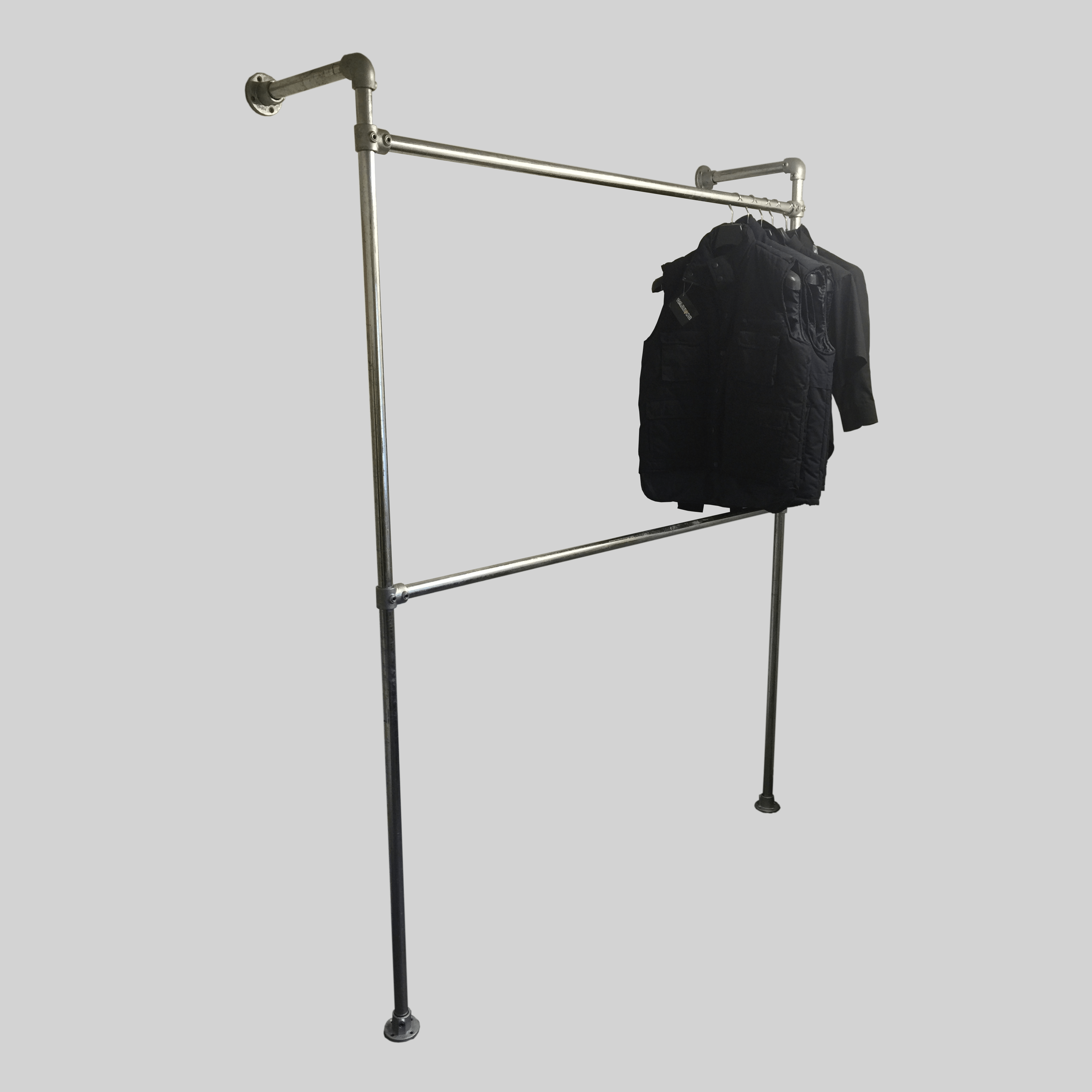 ideas design garment free clothes metal popular exciting standing chrome rack with target