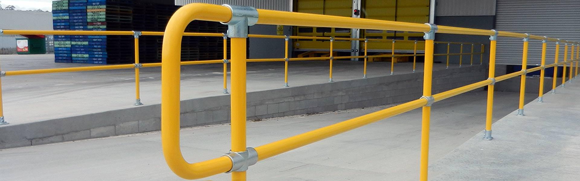 Key clamp store galvanised handrail fittings